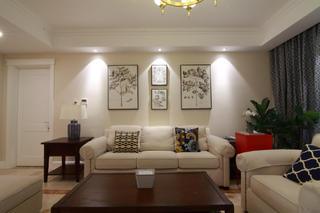 155平简美之家装修沙发背景墙图片
