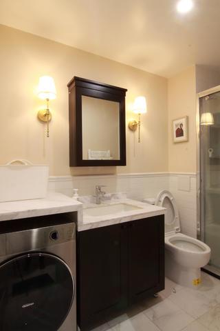 155平简美之家装修洗手台图片