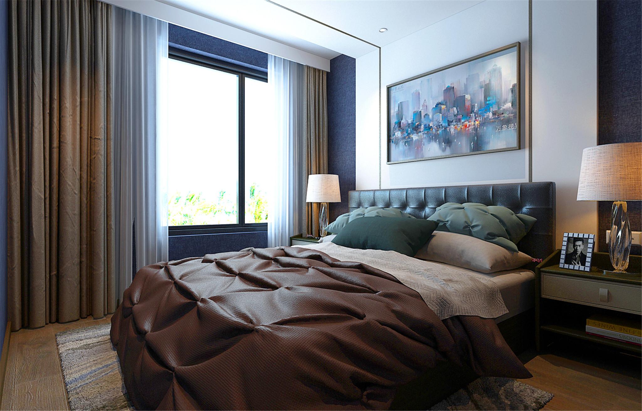 90㎡简约风格家床上用品图片