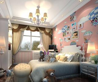 欧式豪华别墅修儿童房效果图