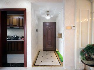 混搭三居室装修门厅设计图