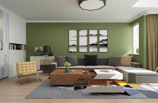 三居室现代简约之家沙发图片