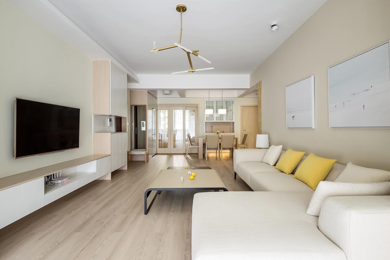 现代简约三居装修客厅效果图