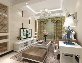简欧复式装修客厅效果图