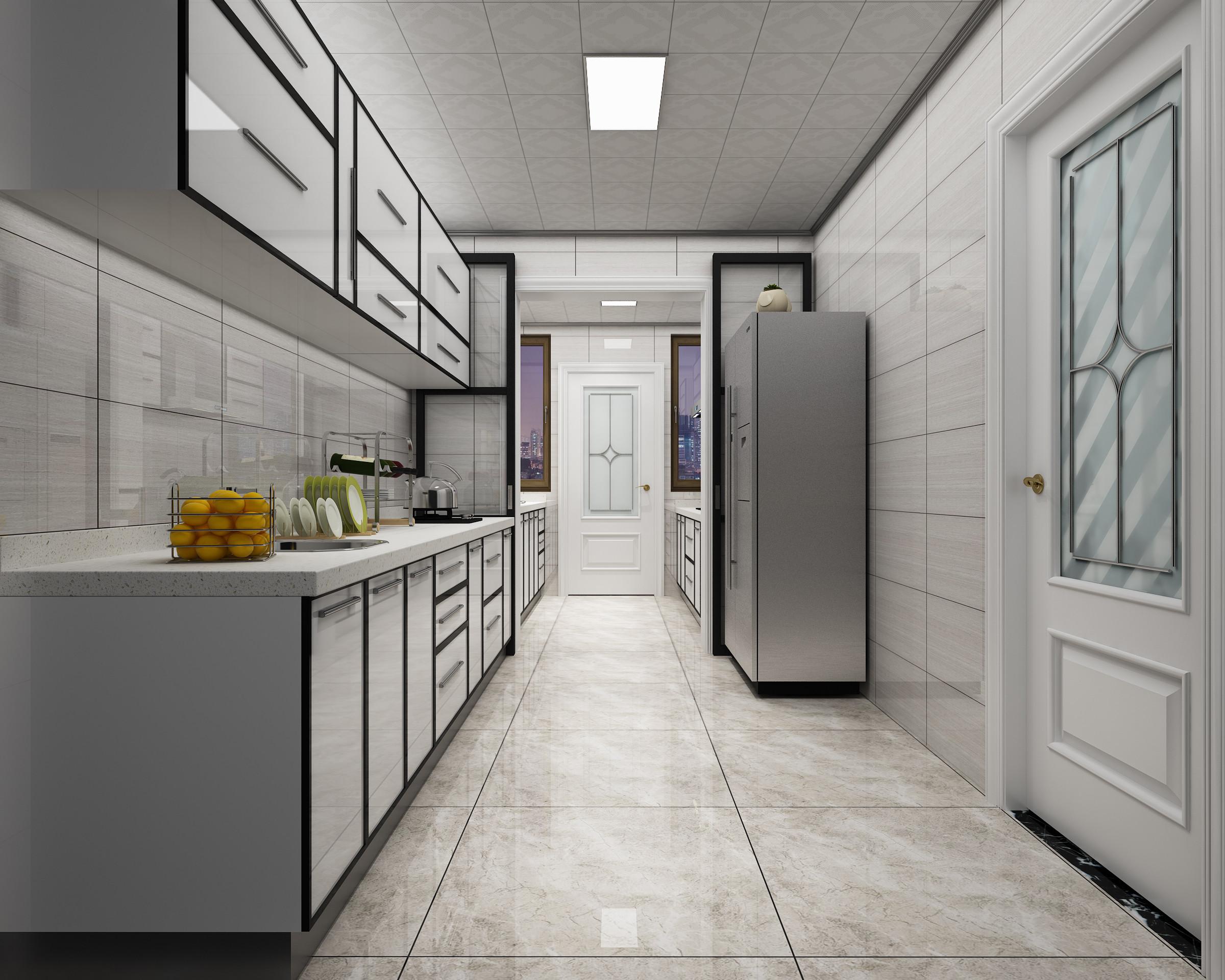 现代简约时尚装修厨房效果图