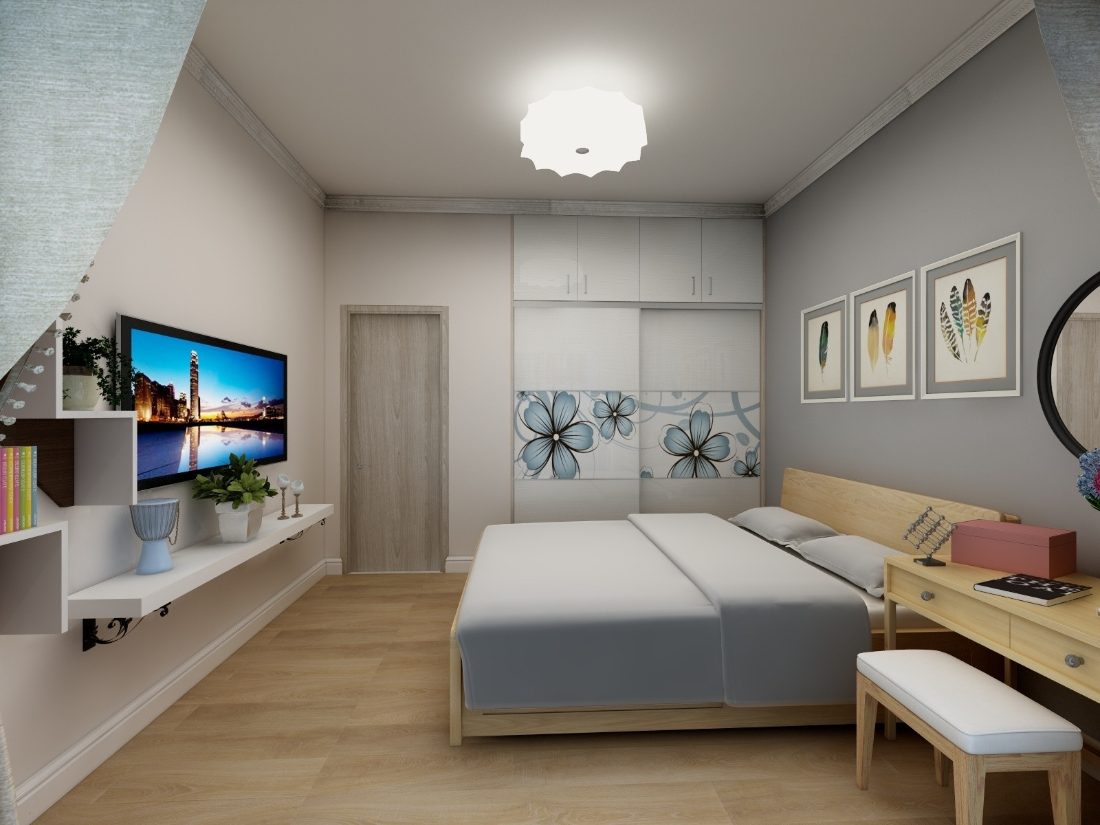 一居室小户型装修卧室效果图