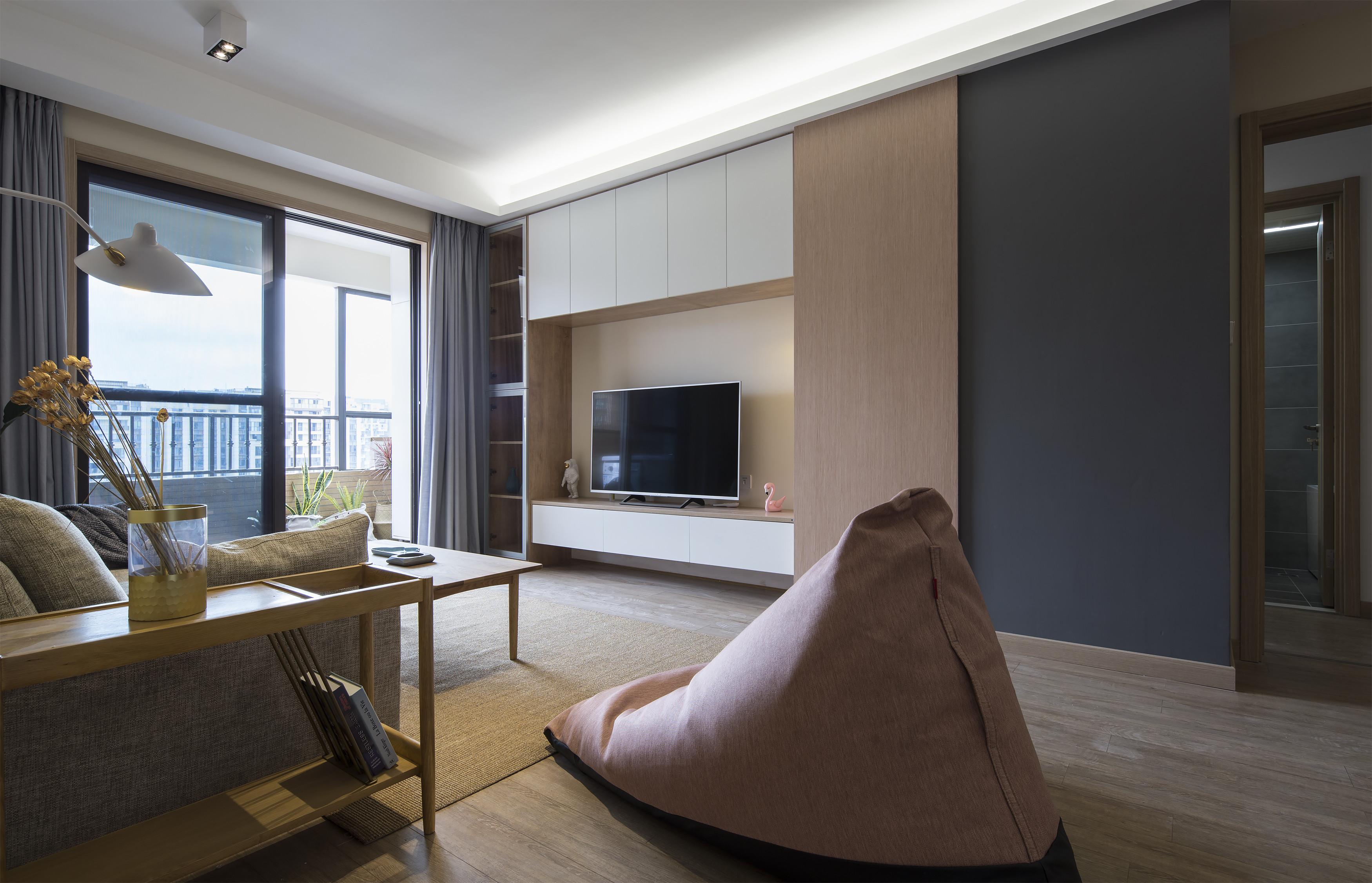 北欧三居室装修懒人沙发图片