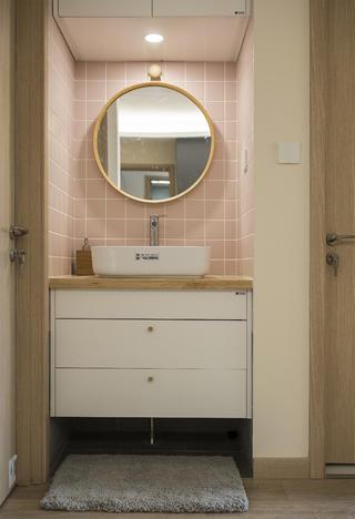 北欧三居室装修洗手台图片