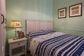 三居室美式空间儿童房背景墙图片