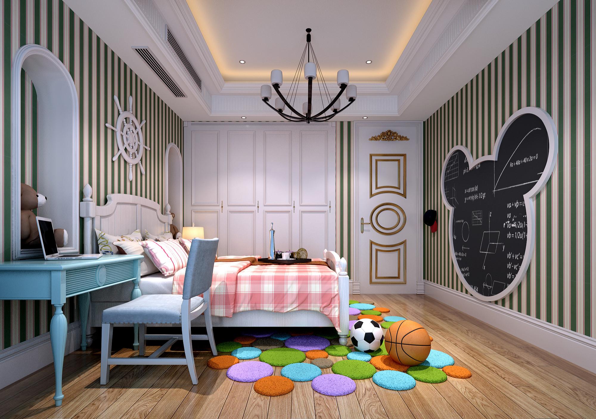 欧式别墅装修儿童房设计图