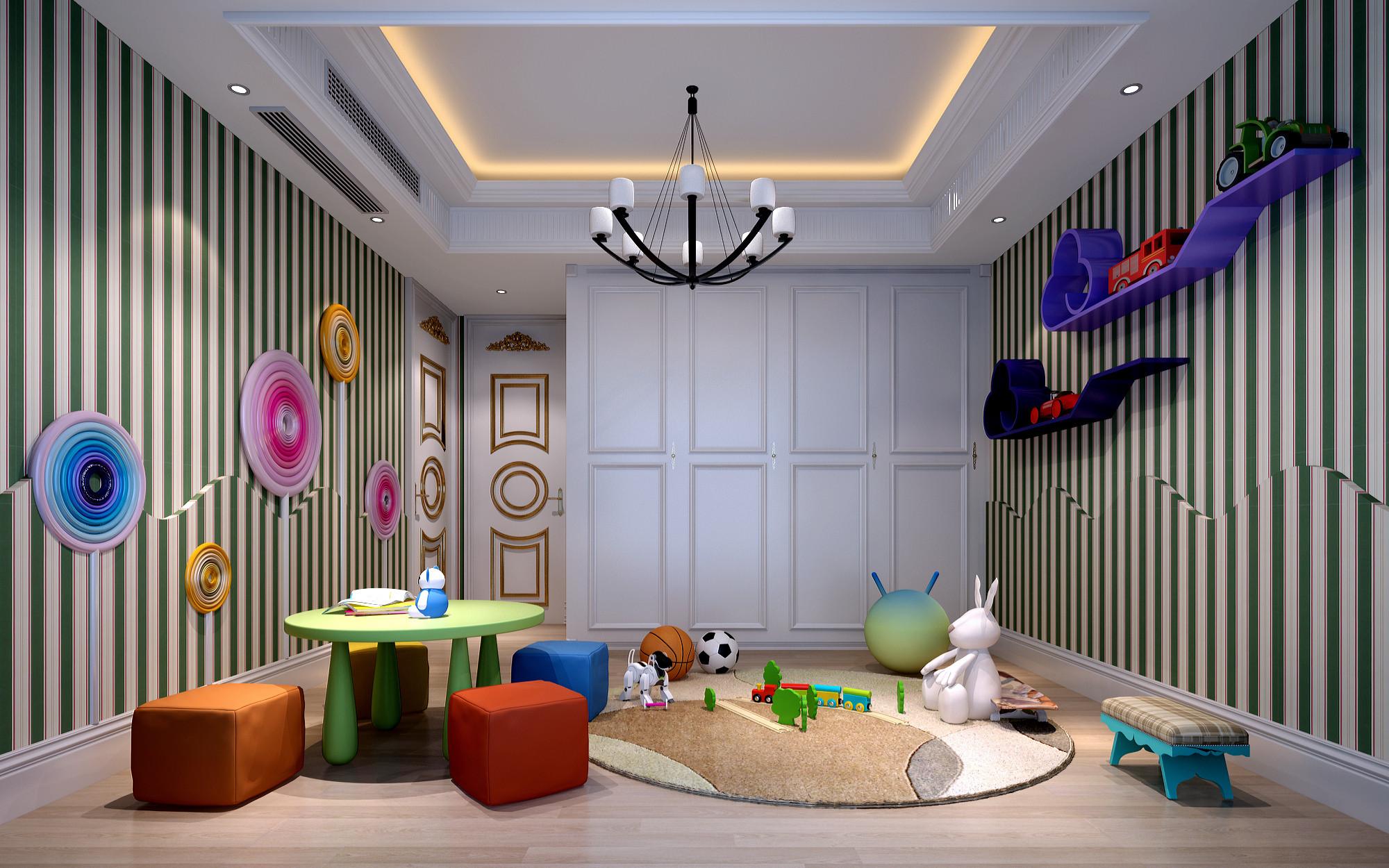 欧式别墅装修儿童房娱乐区