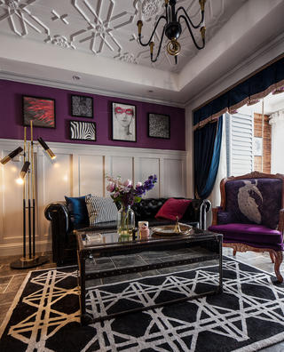 二居室美式装修沙发图片