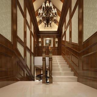 美式别墅装修楼梯设计图