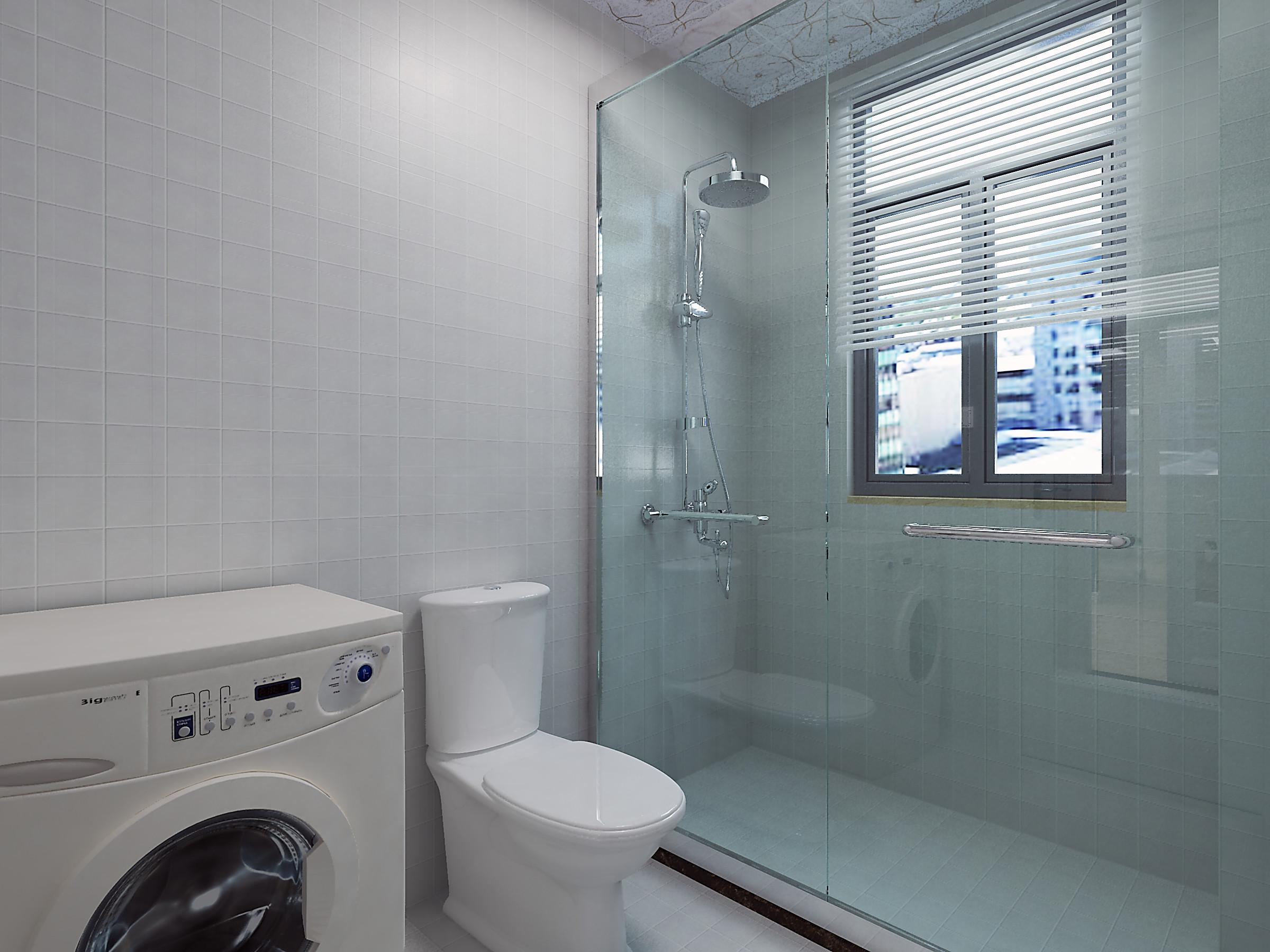 130㎡简约装修淋浴房图片