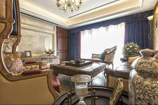 150㎡美式装修客厅布置图