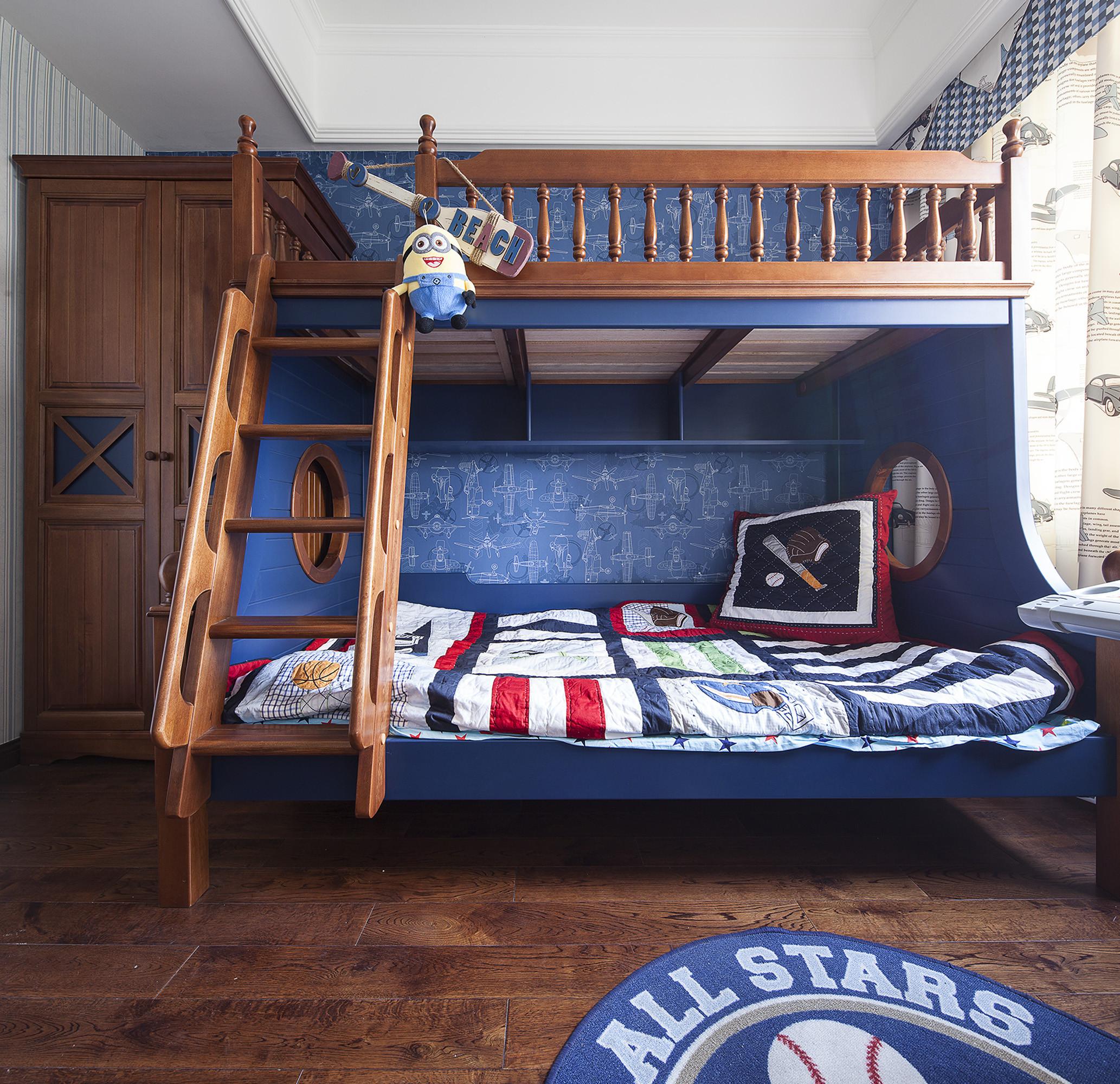 150㎡美式装修儿童床图片
