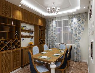 120㎡地中海风格装修餐厅设计图