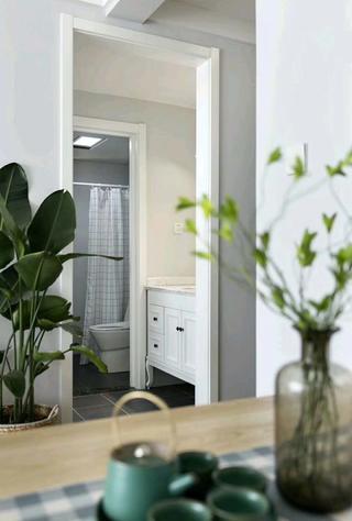 北欧二居室装修洗手台图片
