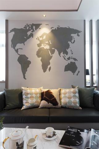二居室现代简约空间沙发背景墙图片
