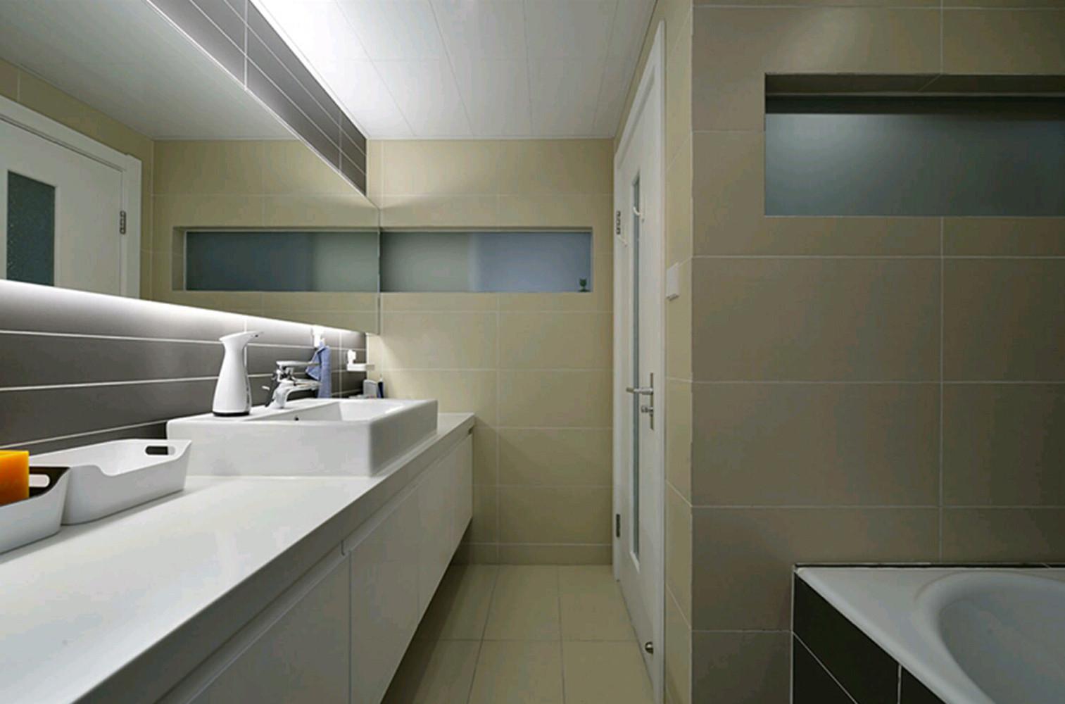 120平简约装修卫生间图片