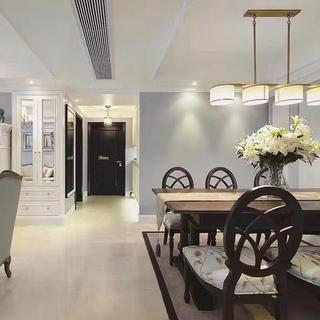 130平美式公寓装修过道图片