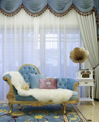 法式复式装修贵妃椅图片