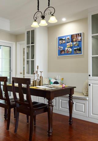 140平美式风格装修餐厅设计图