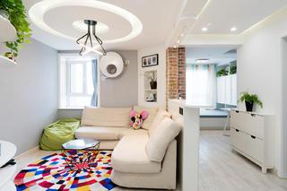 56平小户型装修客厅隔断设计