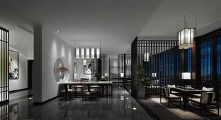 中式別墅裝修茶室效果圖