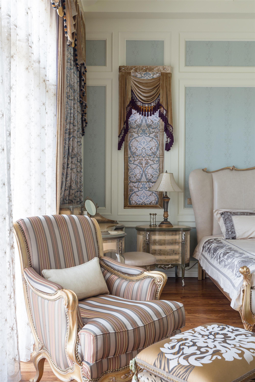 混搭别墅装修单人沙发图片