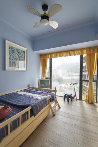 美式三居室装修儿童房实景图