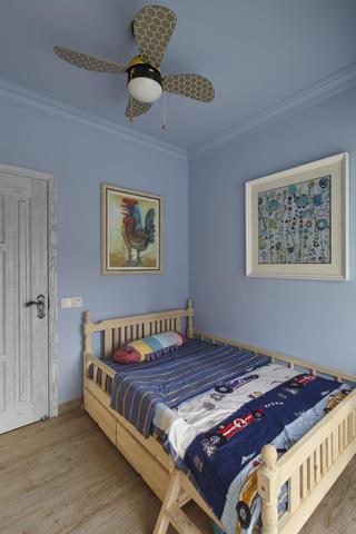 美式三居室装修儿童房背景墙图片