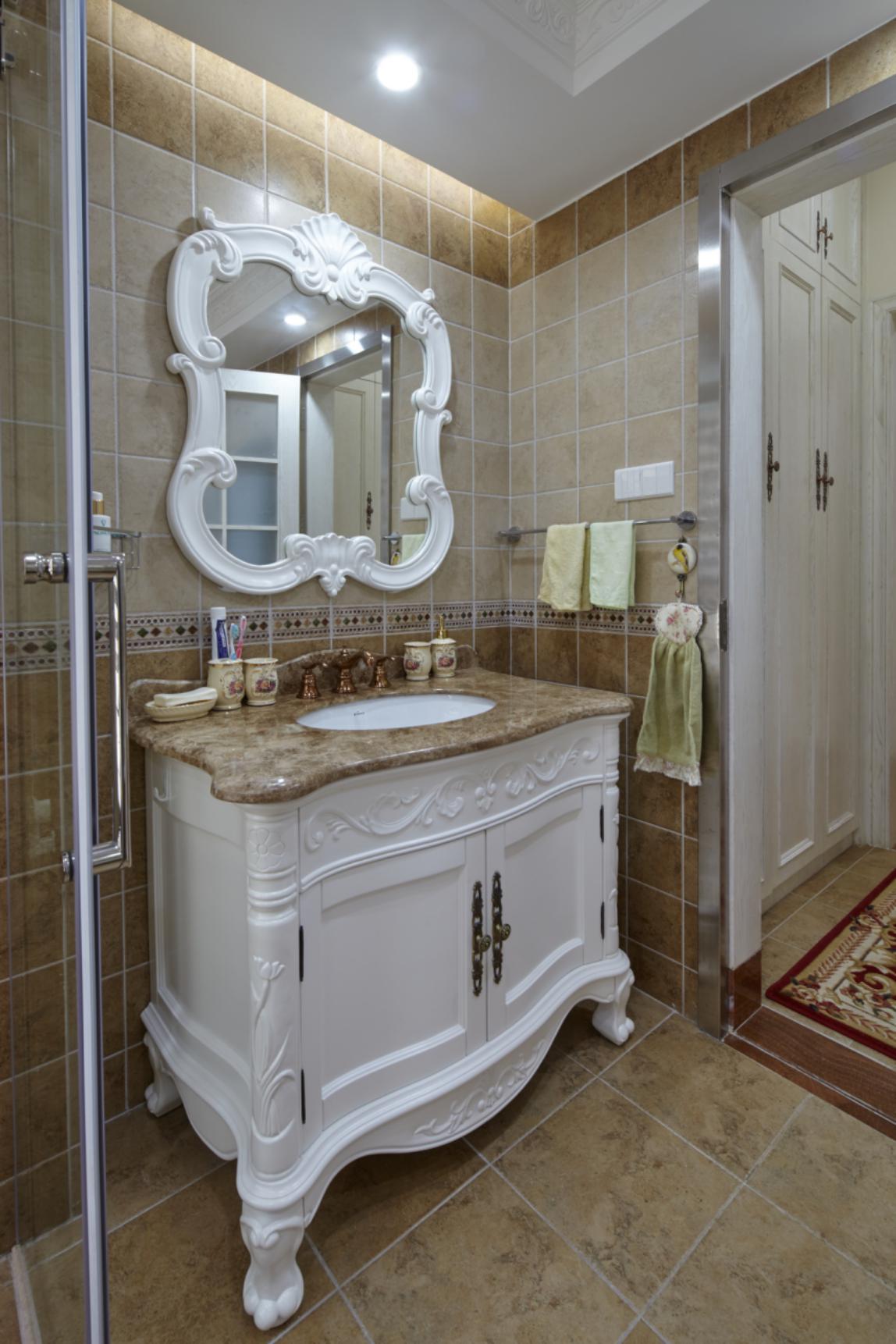 欧式四居室装修洗手台图片
