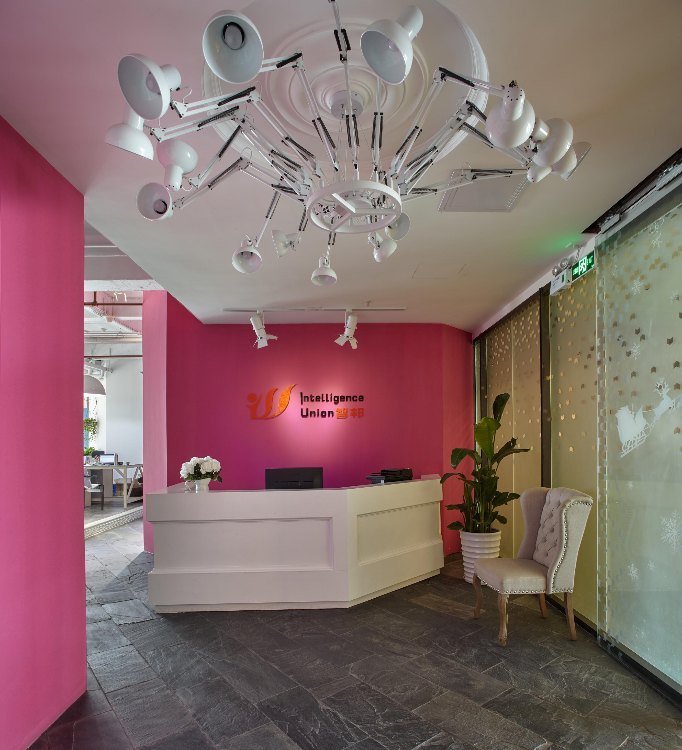 loft风格办公室装修门厅效果图
