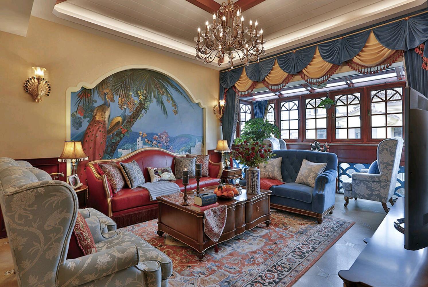 大户型美式之家客厅效果图
