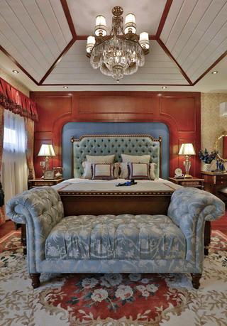 大户型美式之家床头软包图片
