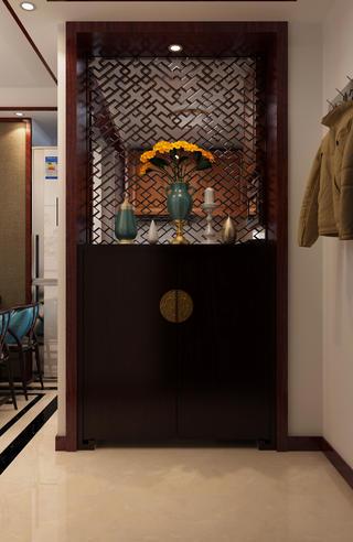 中式复式装修玄关柜图片