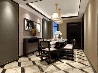 新中式四房装修餐厅效果图
