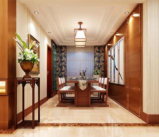 新中式复式装修餐厅设计图