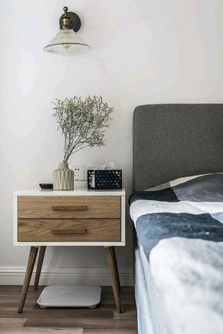 110平北欧风格装修床头柜图片