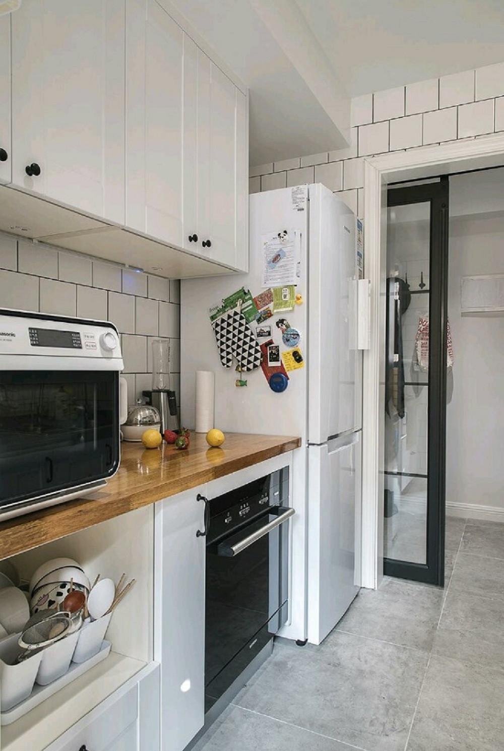 110平北欧风格装修厨房图片