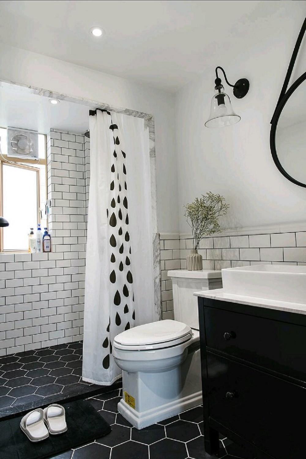 110平北欧风格装修卫生间图片