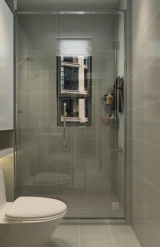 120㎡简约三居装修淋浴房图片
