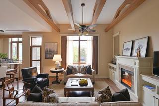 美式别墅装修客厅吊顶设计图
