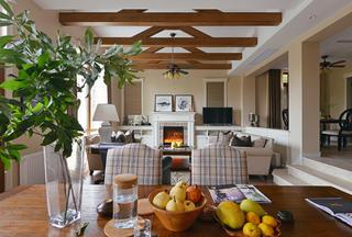 美式别墅装修客厅布置图