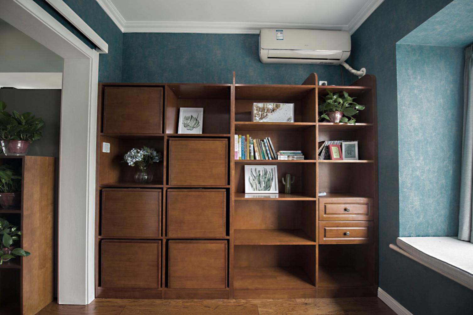 北欧三居室装修书柜图片