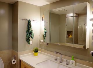 70平北欧二居装修洗手台图片