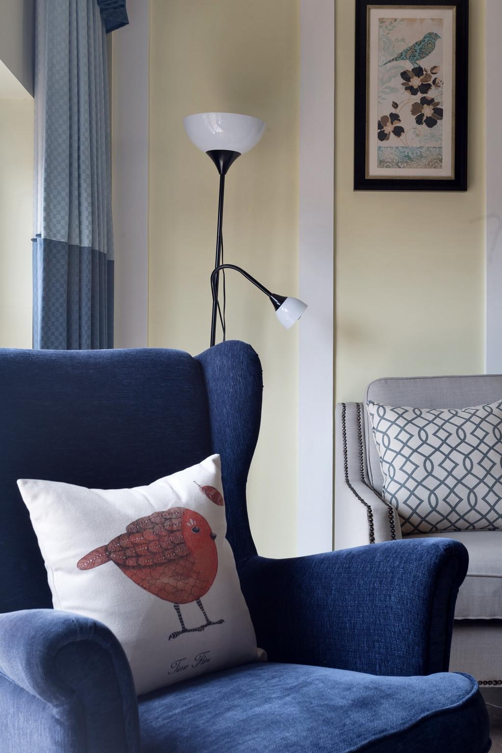 休闲美式装修单人沙发图片