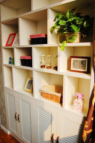 一居室小户型混搭装修书柜图片