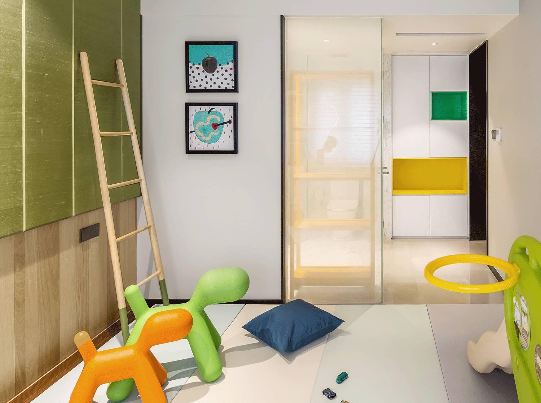 现代复式装修儿童房效果图